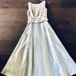 JS collections silver grey formal/ prom dress